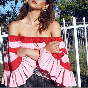 Nasty Gal Be Stripe Off the Shoulder